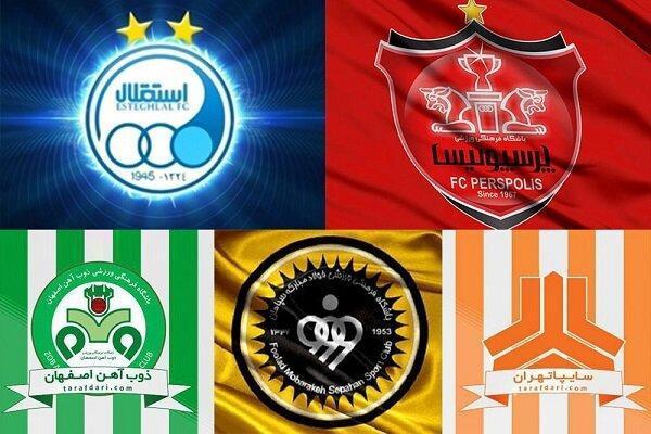 پنج تیمی که در لیگ برتر رکورددار هستند، ریشه دارهایی که نابود شدند