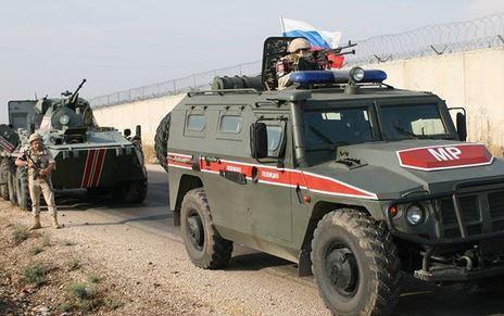 گشت زنی پلیس نظامی روسیه در 3 استان سوریه