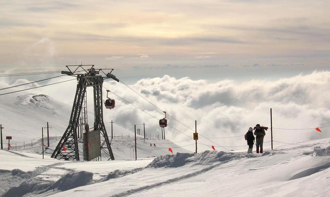 تله کابین توچال ، تفریح در دل زمستان