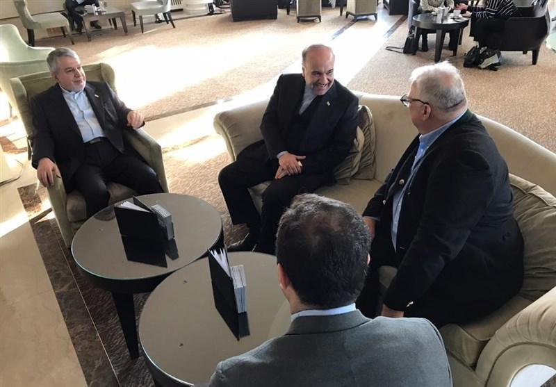 ملاقات سلطانی فر و صالحی امیری با رئیس اتحادیه جهانی کشتی