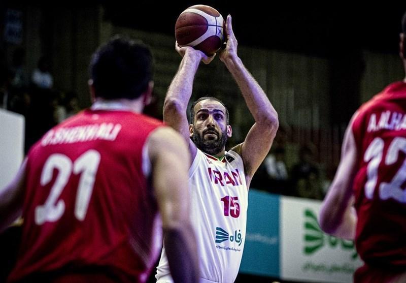 بسکتبال انتخابی کاپ آسیا، حدادی موثرترین بازیکن ملاقات ایران و قطر شد