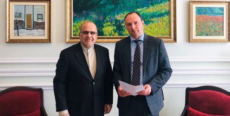 ملاقات سفیر ایران با معاون وزیر خارجه اوکراین و تبادل نظر درباره کرونا و تحریم های آمریکا