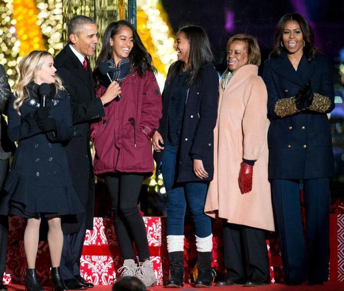 جدیدترین عکس دختر های باراک اوباما در جشن کریسمس 2016