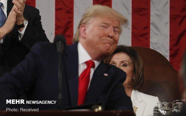 پلوسی خطاب به ترامپ: لطفاً هر چیزی را نخور!