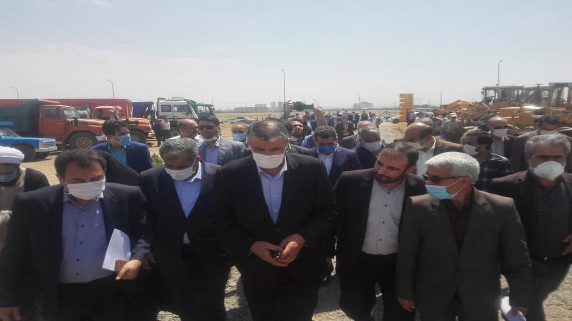 کلنگ زنی طرح ملی مسکن در مهرگان