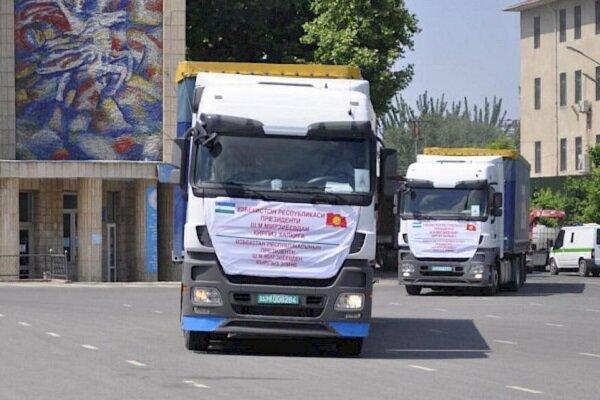 ازبکستان دومین محموله کمک های بشردوستانه رابه قرقیزستان ارسال کرد