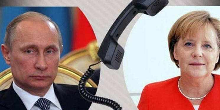 گفت وگوی تلفنی مرکل و پوتین درباره تحولات لیبی و سوریه