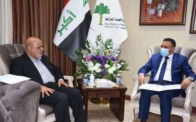 خبرنگاران تأکید بر همکاری های بهداشتی در دیدار سفیر ایران با وزیر عراقی