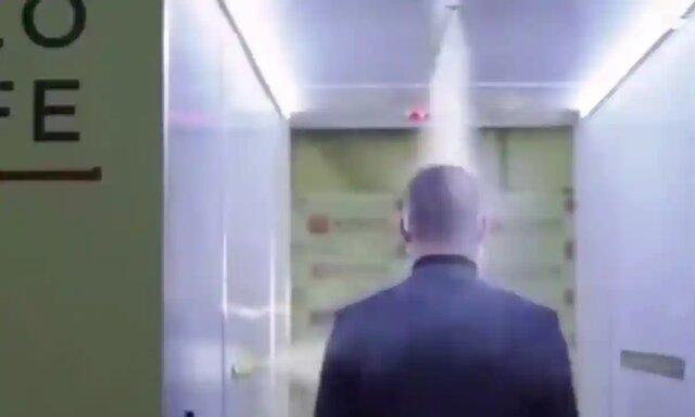 عبور از تونل ضد کرونایی برای دیدار با پوتین