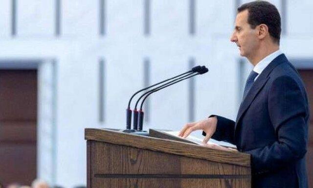 بشار اسد حین سخنرانی دچار افت فشار شد