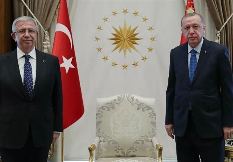 ملاقات اردوغان و شهردار آنکارا