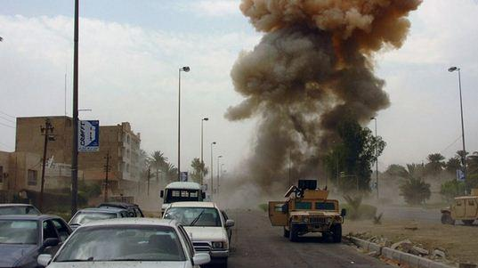 انفجار بمب در راستا کاروان نظامی آمریکا در عراق