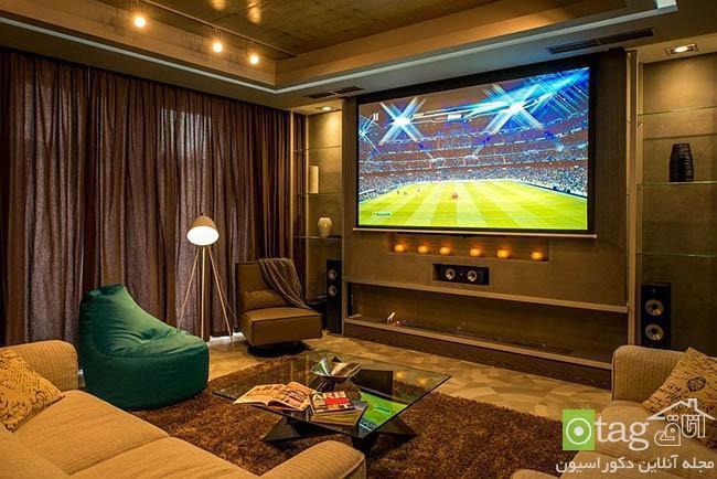 طراحی داخلی آپارتمان با تم فوتبالی مناسب بازیکنان حرفه ای
