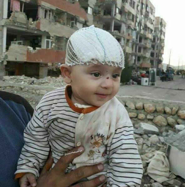 پست ساره بیات در مورد کودکی در زلزله
