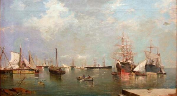 او شهر مورد علاقه چاپلین و چرچیل را نقاشی کرد