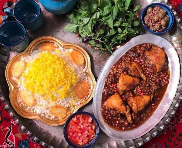 طرز تهیه مرغ ناردونی؛ غذای اصیل مازندرانی ها